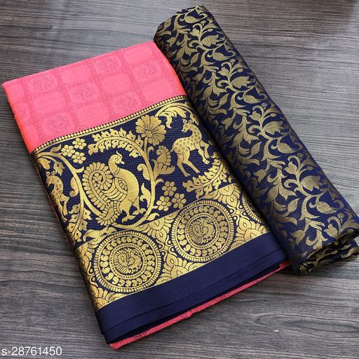 Women's Soft Cotton Silk Saree with Blouse Piece