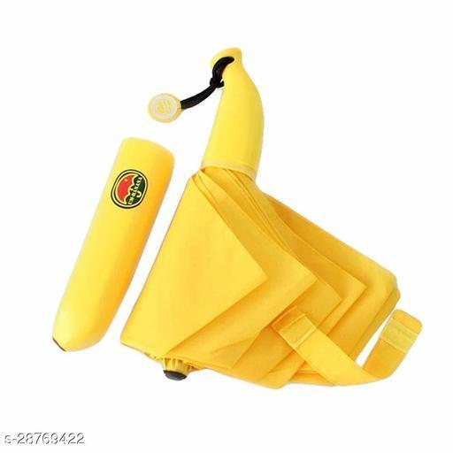 Banana Shape Folding Automatic Open Mini Umbrella (Multicolour)