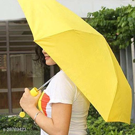 Seetu Banana Shape Folding Automatic Open Mini Umbrella