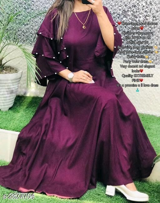 Attractive 14 KG Rayon Women's Gown
