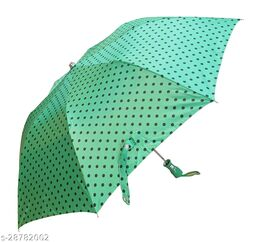 Epraiser Waterproof Nylon Polka Dots Design Automatic Open Mono Silver 2 Fold Sturdy ABS Ergonomic Handle Water Resistant / UV Protection Umbrella