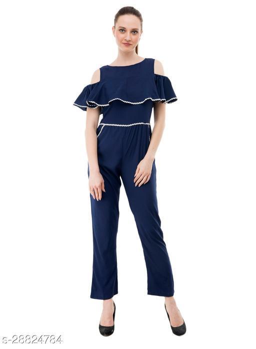 Karmic Vision Women's Casual Blue Jumpsuit