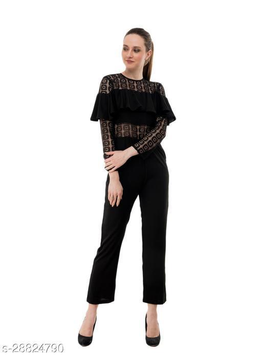 Karmic Vision Women's Casual Black Jumpsuit