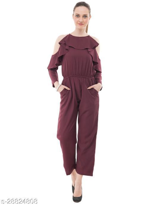Karmic Vision Women's Casual Brown Jumpsuit