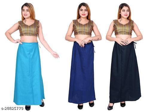 Riwaz Trendz Petticoat Inskirt For women in Latest Collection (Light Blue, Royal Blue, Navy Blue)