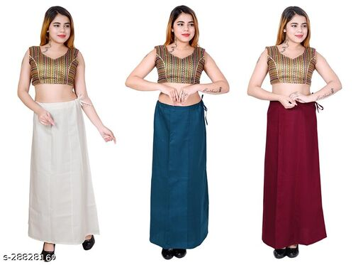 Riwaz Trendz Petticoat Inskirt For women in Latest Collection (White, Turquoise, Maroon)
