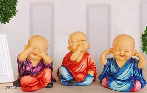 Set Of Three Monks