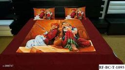Elite Velvet Printed Double Bedsheet