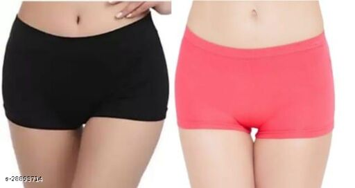 Women Hipster Multicolor Cotton Blend Panty (Pack of 2)