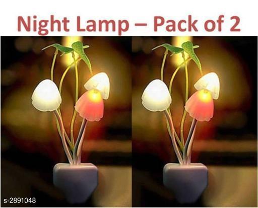 Fancy Color Changing LED Mushroom Night Light ( Pack of 2 )