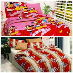 Double bedsheets with 2 Matching Pillow Covers,3D