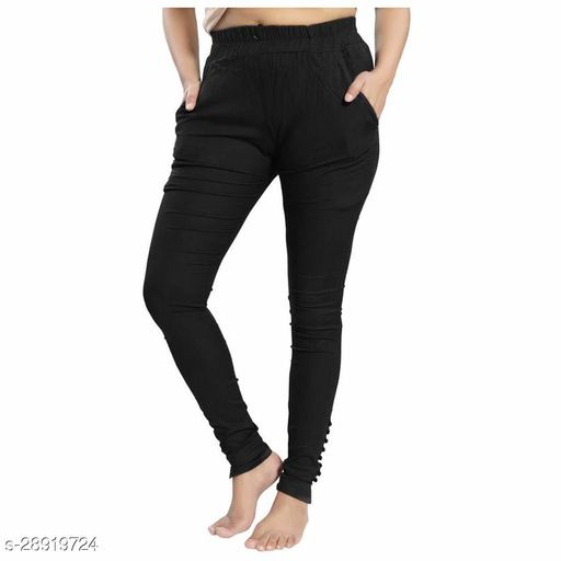 Dream Desi Women's Cotton Stretch Ankle Length Pants/Trousers/Chinos