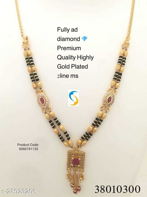 Designer gold plated much beautiful super quality and long lasting mangalsutra.