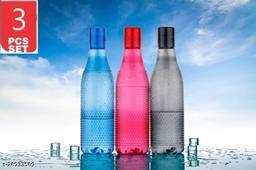 Plastic Water  bubble  Bottle Set For Fridge, Gym, School Kids, Office, Sports, Yoga- 1 Litre, Multicolored , SET OF 3