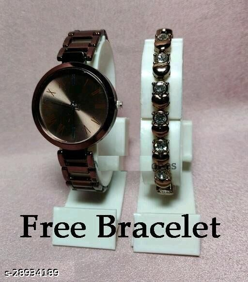 Trendy watches and bracelet combo for Girls