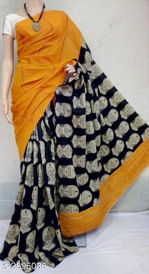 Women's Soft Cotton Women's Saree