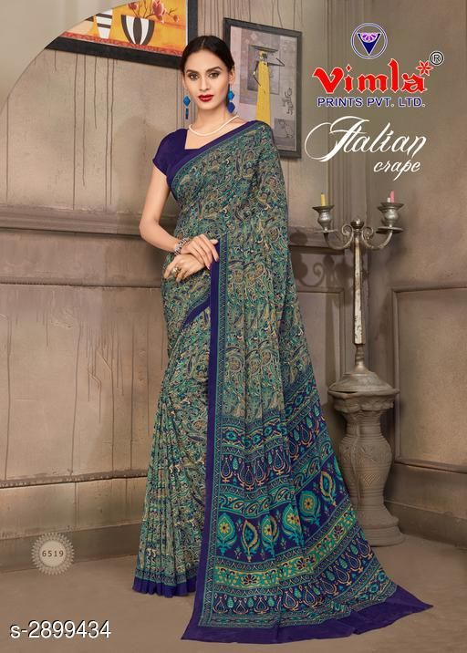 Alluring Crepe Silk Women's Saree