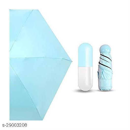 Seetu Small Mini Umbrella with Cute Capsule Case,5 Folding Compact Pocket Umbrella, Especially for Kids (MULTYCOLOR)
