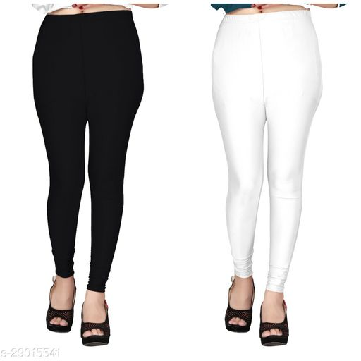 Designer Satin Women Leggings(Size:-28 To 38)(Color And Design Will Not Same As Photo Always All The Time)