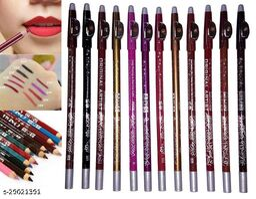 12-Color Lip Liner, Waterproof Lip Liner, 12-Color Lip Liner Set, Non-Marking, Sweat-Proof, Matte Pencil Lipstick