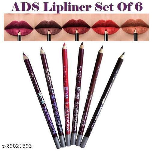 6-Color Lip Liner, Waterproof Lip Liner, 6-Color Lip Liner Set, Non-Marking, Sweat-Proof, Matte Pencil Lipstick