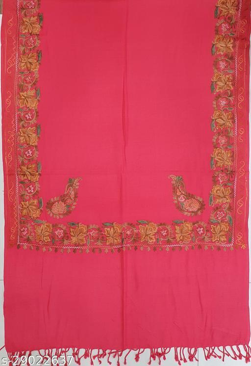 Girlist Stylish Woolen Embroidery Stole