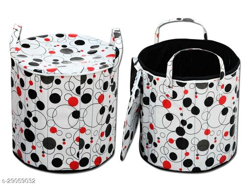 BRS HOME Printed  Laundry Bag (13.5X15X40) inches