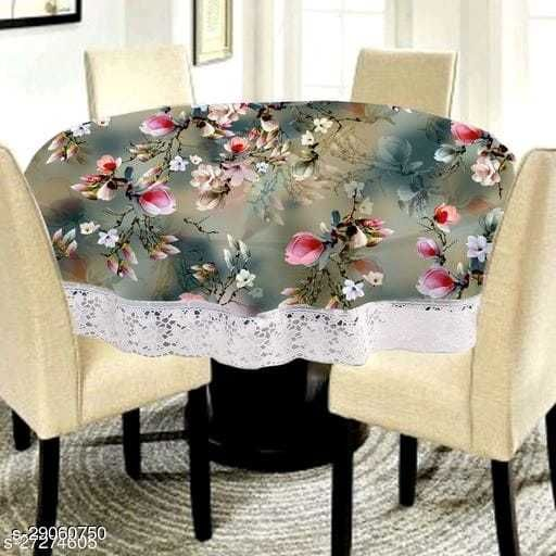 BRS HOME  Printed 4 Seater Round Dining Table Cover (60X60) Inches