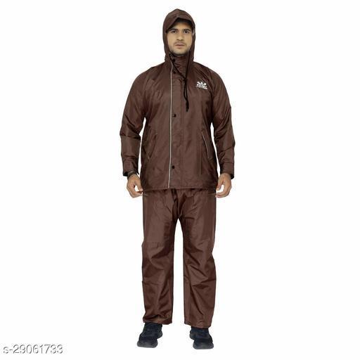 THE CLOWNFISH Men's Raincoat (Brown_X-Large)