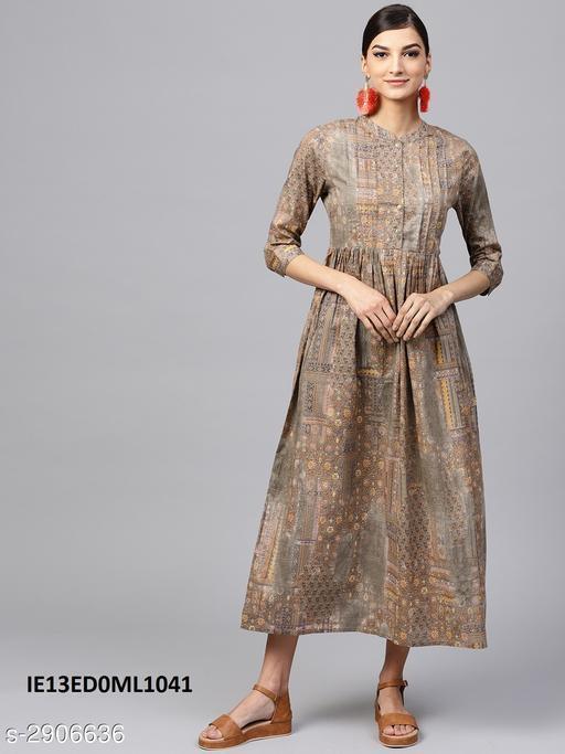 Fashionable Cotton Silk Dress