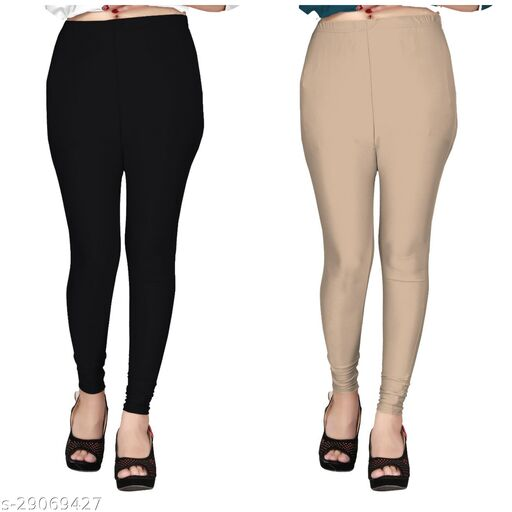 Trendy Women Leggings(Size:-28 to 38)(Color And Design Will Not Same As Photo Always All The Time)