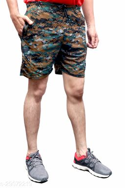 AXOLOTL Army/Military Style Camouflage Shorts for Men (Sport Fabric)