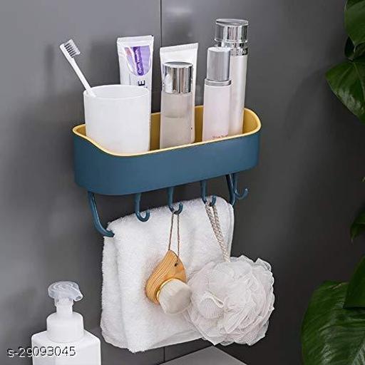 Bathroom And Kitchen Shelf Shelves Soap Holder With 4 Sponge Holder Hooks Soap Dishes holder