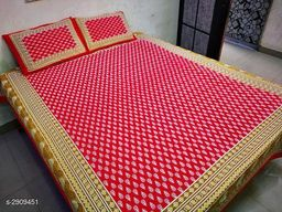 Attractive Cotton Printed Double Bedsheet