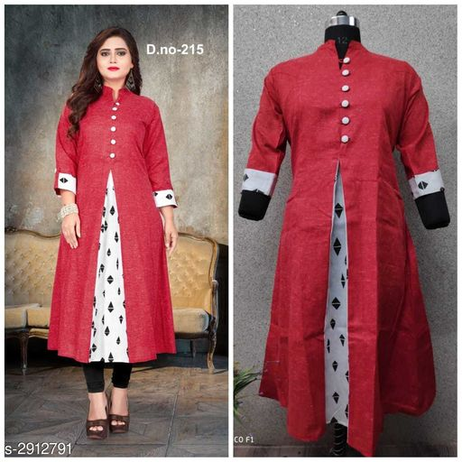Women's Printed Khadi Cotton Kurti