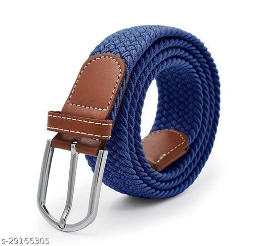 Men's And Women's Blue Canvas Belt