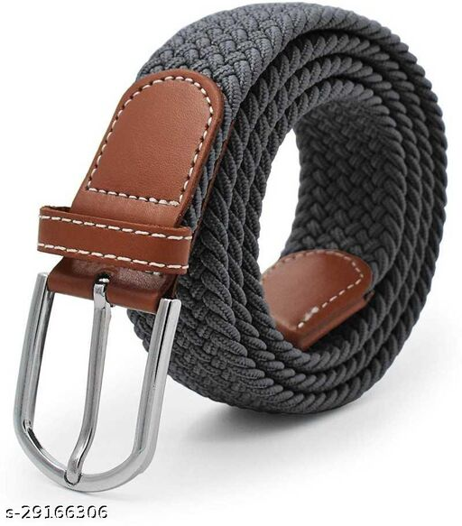 Men's And Women's Grey Canvas Belt