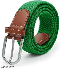 Men's And Women's Green Canvas Belt