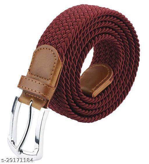 Men's And Women's maroon Canvas Belt