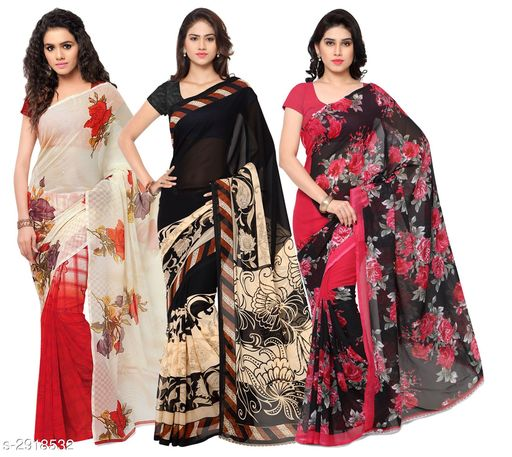 Trendy Georgette Women's Saree