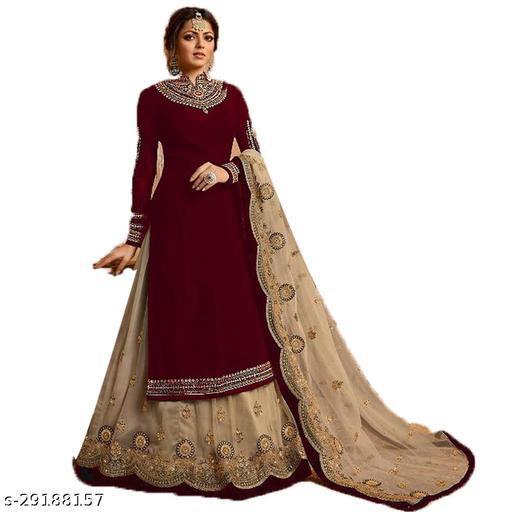 Shafnufab Designer Anakali Salwar Suit Gown For Womens And Girls