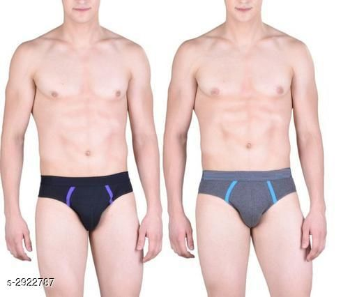 Men's Cotton Solid Briefs (Pack Of 2)