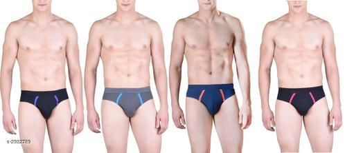 Men's Cotton Solid Briefs (Pack Of 4)