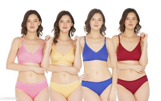 Women Bikini Multicolor Cotton Panty (Pack of 4)