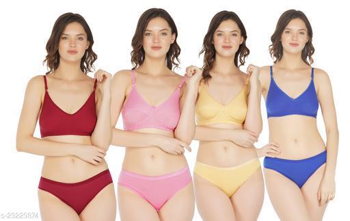 Women Pack of 4 Bikini Panties
