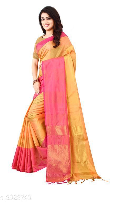 Adorable Woven Cotton Silk Women's Saree