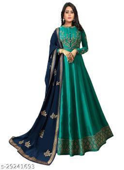 BHUMIK ENTERPRISE Designer Anakali Salwar Suit Gown For Womens And Girls