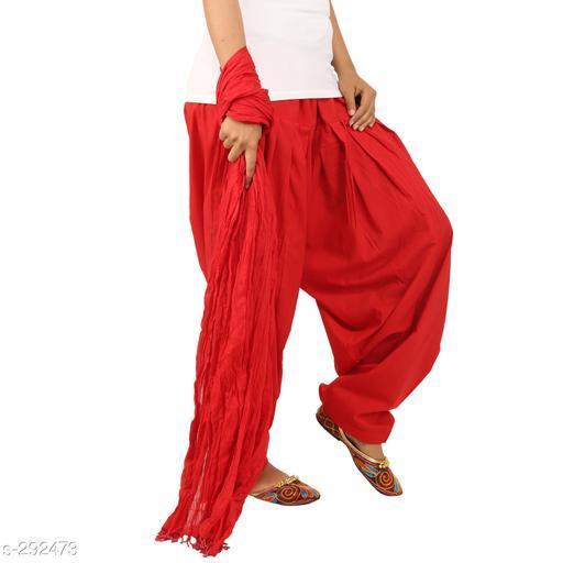 Ethnic Bottomwear - Patiala Pants Stylish Cotton Patiala Pant  *Fabric* Patiala Salwar- Cotton , Dupatta - Cotton   *Size* Patiala Salwar - Up 28 in To 36 in, Dupatta - 2.25 Mtr   *Length* Patiala Salwar - Up To  42 in   *Type* Stitched   *Description* It Has 1 Piece Of Patiala Salwar & 1 Piece Of Dupatta   *Work* Solid  *Sizes Available* Free Size *    Catalog Name: Solid Cotton Patiala Pants Vol 1  CatalogID_30659 C74-SC1018 Code: 893-292473-