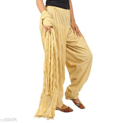 Ethnic Bottomwear - Patiala Pants Stylish Cotton Patiala Pant  *Fabric* Patiala Salwar- Cotton , Dupatta - Cotton   *Size* Patiala Salwar - Up 28 in To 36 in, Dupatta - 2.25 Mtr   *Length* Patiala Salwar - Up To  42 in   *Type* Stitched   *Description* It Has 1 Piece Of Patiala Salwar & 1 Piece Of Dupatta   *Work* Solid  *Sizes Available* Free Size *    Catalog Name: Solid Cotton Patiala Pants Vol 1  CatalogID_30659 C74-SC1018 Code: 893-292476-