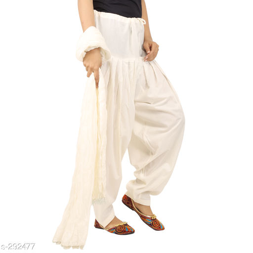 Ethnic Bottomwear - Patiala Pants Stylish Cotton Patiala Pant  *Fabric* Patiala Salwar- Cotton , Dupatta - Cotton   *Size* Patiala Salwar - Up 28 in To 36 in, Dupatta - 2.25 Mtr   *Length* Patiala Salwar - Up To  42 in   *Type* Stitched   *Description* It Has 1 Piece Of Patiala Salwar & 1 Piece Of Dupatta   *Work* Solid  *Sizes Available* Free Size *    Catalog Name: Solid Cotton Patiala Pants Vol 1  CatalogID_30659 C74-SC1018 Code: 893-292477-